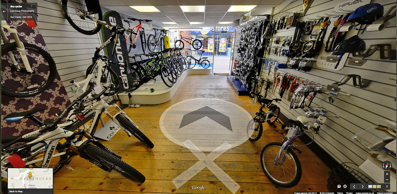 Photographer in Berkshire Google Business View Tour DNA cycles
